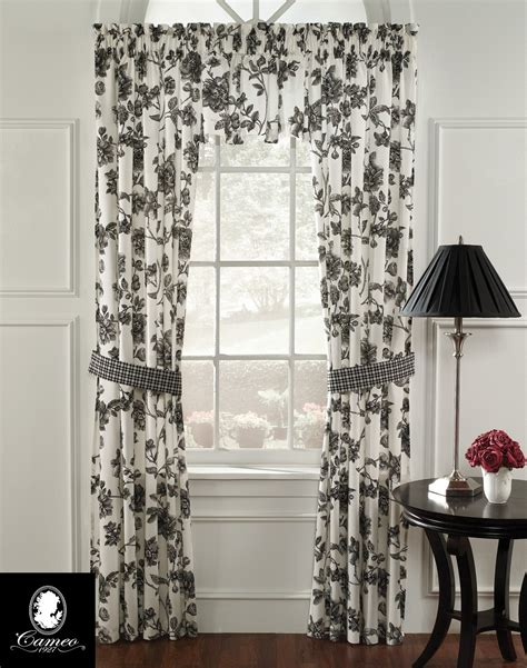Black And White Toile Kitchen Curtains by Black And White Toile Kitchen Curtains Chantal Cotton