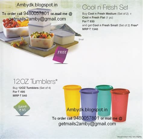 Cool N Fresh Set I Can You Can Tupperware Bangalore Tupperware October 2013 Flyer