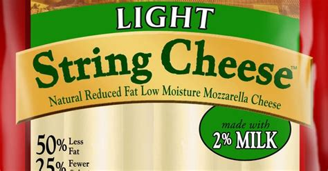 carbs in light string cheese pair 50 calorie string cheese with a few whole grain