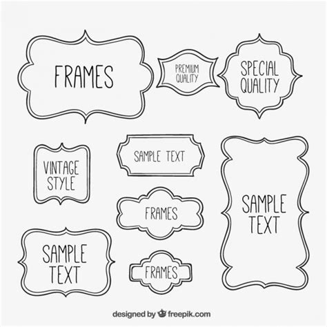 cornici illustrator sketchy frames collection vector free