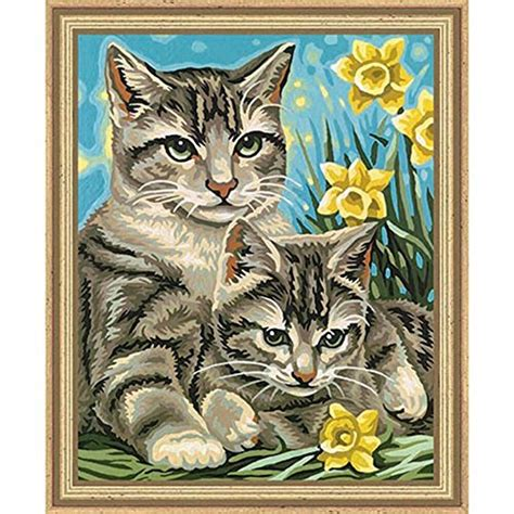 cat painting kit cat paint by number kits puurrrfect for all you cat