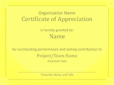 presentation certificate template acknowledge prominent presentation certificate of