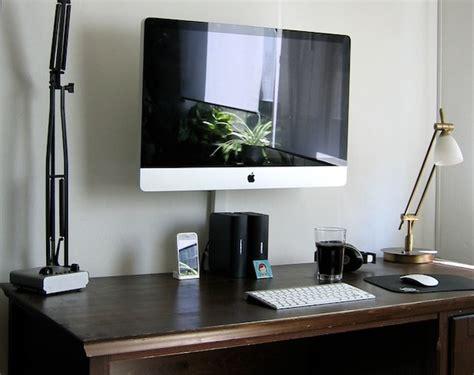 Slim Computer Desk Imac Wall Mount