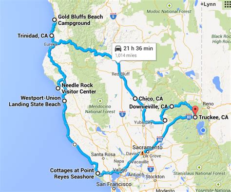 california map road trip planning a california coast road trip tahoe fabulous