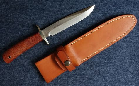 6 inch bowie knife kato kiyoshi damascus 6 inch bowie w quince burl handle