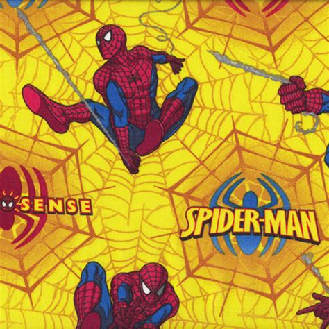 spiderman pattern fabric licensed fabric quilting fabric