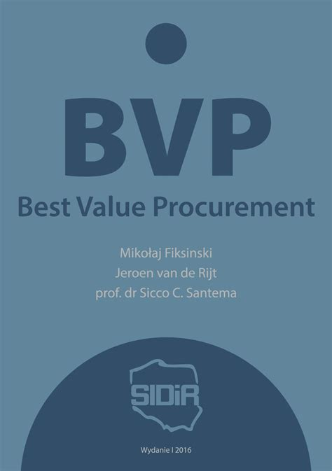 best value procurement bvp best value procurement wykład profesora kashiwagi