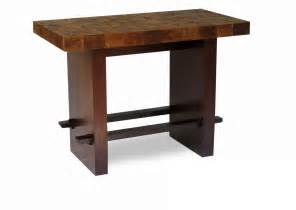 block bar table design green