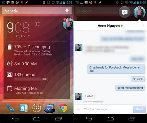 i messenger for android messenger for android get chat heads news