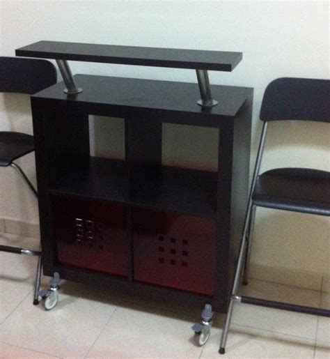Ikea Kitchen Bar Table Expedit Bar Table Or Kitchen Trolley Ikea Hackers