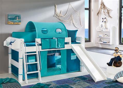 detska patrova postel se skluzavkou namornik design outlet