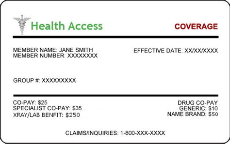 health insurance card template best free home design