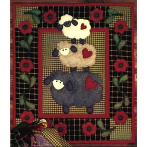 Beginners Quilting Kit by Wooly Sheep Wall Hanging Quilt Kit Beginner Applique