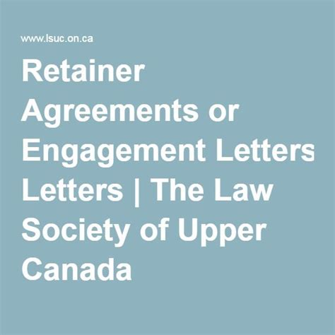 Society Letter Of Engagement 25 Best Retainer Agreement Ideas On