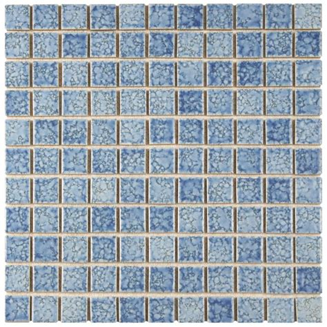 blue mosaic tile merola tile fountain square blue 12 in x 12 in x 5 mm