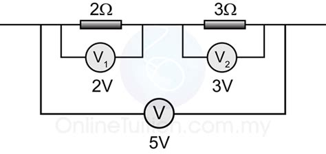 parallel circuits potential difference potential and potential difference in a circuit spm physics form 4 form 5 revision notes
