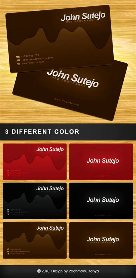 chocolate business cards templates 100 free psd business card templates