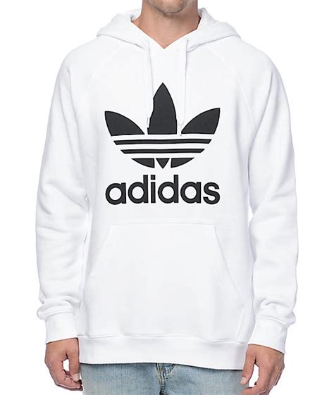 Sweater White Original adidas originals trefoil white hoodie zumiez