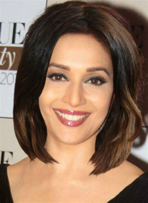 hairstyles for oval faces indian women hair makeovers madhuri dixit funkidos com