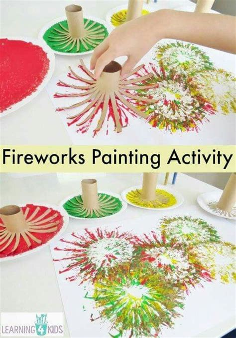 make new year firecrackers make fireworks painting out of paper rolls 4th of july