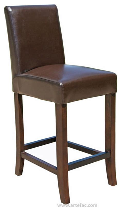 Transitional Bar Stools by Leather Counter Stool 26 Quot Seat Height Brown