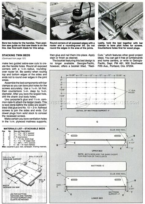Stackable Beds Plans ? WoodArchivist