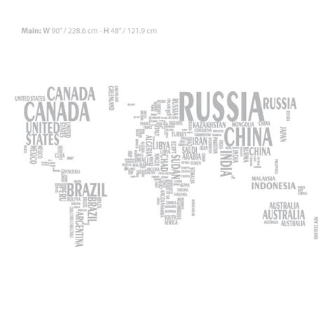 world map with country names decal world map wall decal sticker wall decals and wall