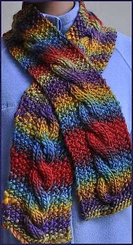 knit scarf pattern medium yarn ravelry chunky mochi cable scarf pattern by susan druding