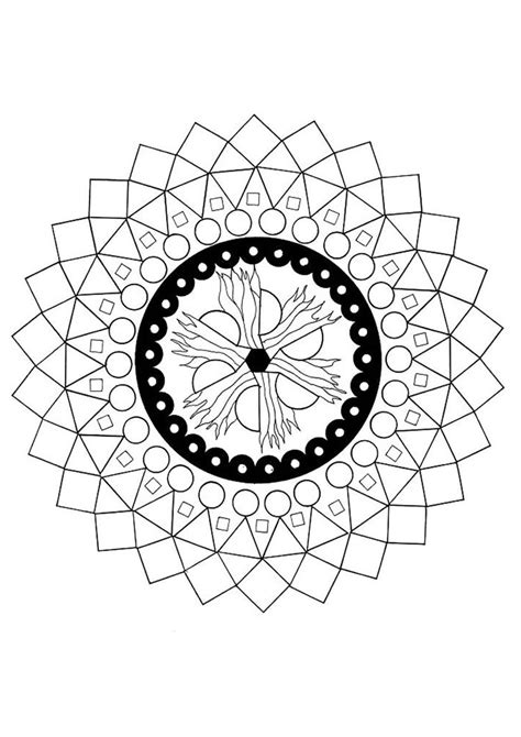 mandala    elements coloring pages hellokidscom