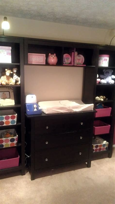 ikea hemnes 3 drawer dresser changing table our take on the pb kids madison changing table system