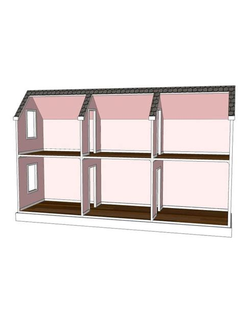 etsy american girl doll house doll house plans for american girl or 18 inch dolls 6