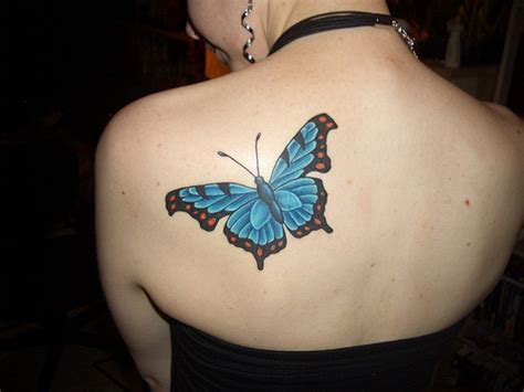 butterfly tattoos on back meaning pictures
