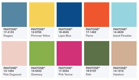 Pantone 2017 Spring | graphics pantone fashion color report spring 2017