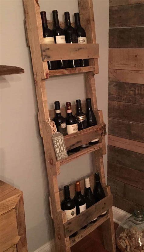 Kitchen Wine Rack Ideas Ladder Style 12 Bottles Wine Rack 1001 Pallets