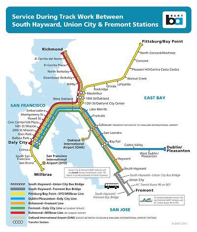 san francisco bart map pdf bridge between so hayward fremont july 16 17