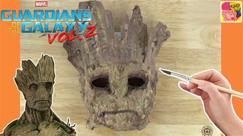 Paper Mache Crafts For Preschoolers - how to make a groot mask from guardians of the galaxy