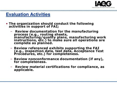 article inspection procedure template article inspection
