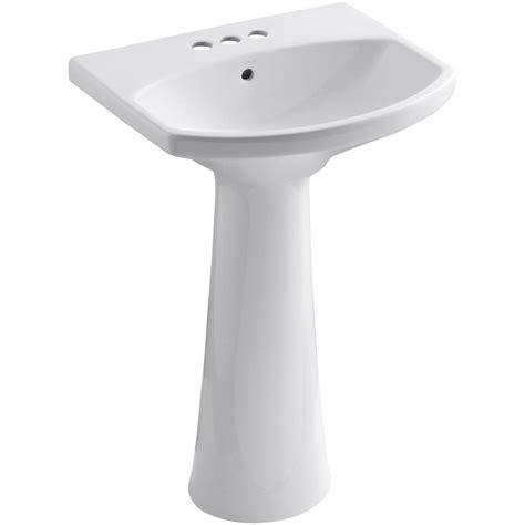 Kohler Pedastal Sink by Kohler Cimarron 4 In Centerset Vitreous China Pedestal