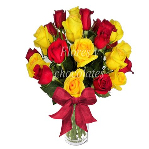 floreros santiago florero de 25 rosas flores y chocolates