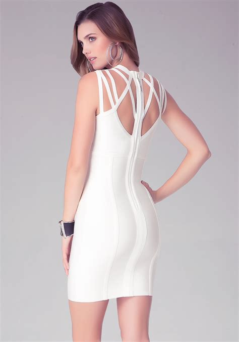 Bebe Dress 9 bebe cutout bandage dress in white lyst