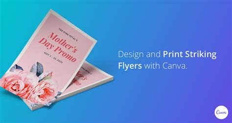 design  print flyers  canva