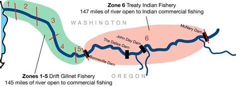 columbia river fishing map columbia river zone 6 columbia river treaty fishing rights