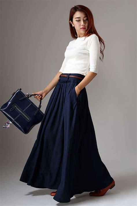 maxi skirt skirt skirt navy skirt pleated skirt