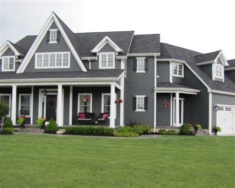 grey house white shutters grey house white trim dark shutters future home pinterest