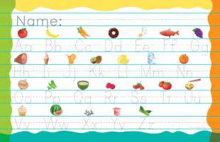 Placemats grade 1 amp 2 alphabet placemat with printing practice