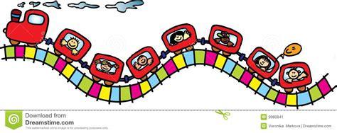 treno clipart treno con i bambini illustrazione vettoriale