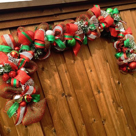 deco mesh garland christmas garland mesh by lafetedecor on
