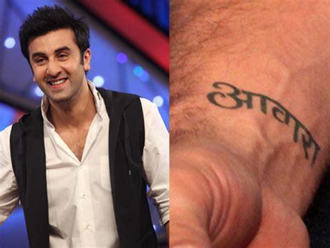 tattoo on ranbir kapoor s hand bollywood celebs and their secret behind their tattoos