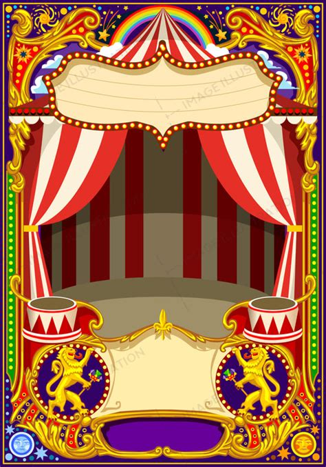 Circus Card Template Vector Image Illustration Circus Poster Template Free