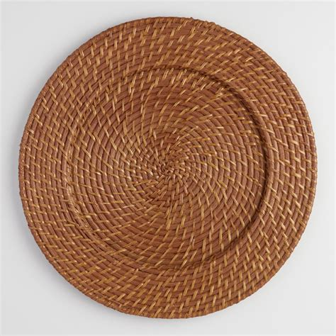 woven chargers rattan charger set of 4 world market